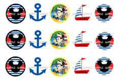 nautical mickey mouse one inch images sailor mickey by TLNdesign, $1.20