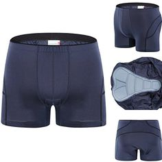 Spotti Padded Bicycle Touring Underwear  Under Liner Bike Short  Thin Pad Black Waist 3436  Large ** For more information, visit image link. (Note:Amazon affiliate link)
