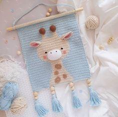 Crochet Wall Art, Crochet Wall Hangings, Tapestry Crochet, Crochet Home, Love Crochet, Crochet For Kids, Crochet Crafts, Crochet Projects, Crochet Patterns Amigurumi