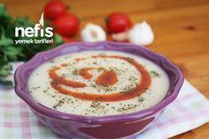 Sarımsaklı Un Çorbası Tarifi (videolu) - Nefis Yemek Tarifleri Hummus, Pudding, Ethnic Recipes, Desserts, Food, Tailgate Desserts, Deserts, Eten, Puddings