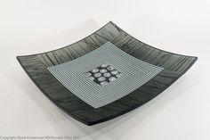 """""""Crypton"""", 15"""" kilnformed platter Bullseye Glass, Glass Artwork, Platter, Fused Glass, Studio, Studios"""