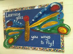 The J.F.K. Art Room with Mrs. Kopacz..this would be cute if the kids designed their own wings with things they've learned on them.