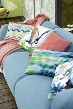 E S P R I T :: stories :: Esprit Home Collection :: Esprit Home Collection 2015 – Lakeside Couch Cushions, Throw Pillows, Esprit Home, Pillow Talk, Home Collections, Comfy, Bed, Colourful Cushions, Home Decor