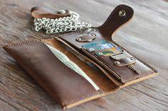 Lederen Biker portemonneeLederen iPhone 5 Wallet door JooJoobs