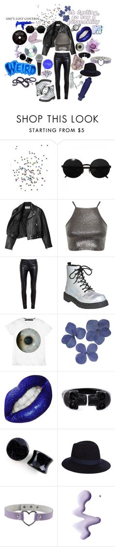 """""""Lead singer who is angsty AF and is the perfect mix between 2005 pete wentz and hayley williams"""" by causingpanicatthetheater on Polyvore featuring Versace, Acne Studios, Miss Selfridge, Yves Saint Laurent, Clips, Alexander McQueen, Accessorize, Topshop and ...Lost"""