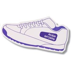 Step into high visibility advertising with fun shoe magnets!
