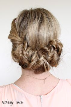 Tuck and Cover Fishtail Braids   MissySue.com