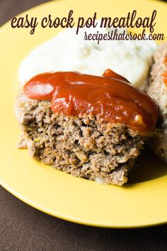 Easy Crock Pot Meatloaf: Are you looking for a wonderful meatloaf recipe? This easy crock pot recipe is one of my favorite ways to make meatloaf. These simple steps produce the delicious homemade favorite every time.