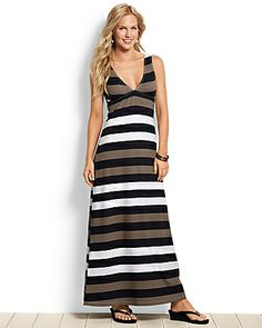 Love this!!  Tommy Bahama - Rugby Stripe Maxi dress