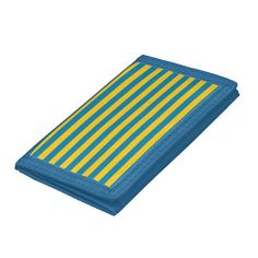 Blue and Gold Stripes Wallet