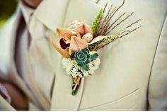 Very unique #weddings #grooms #boutonniere
