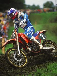 RJ in practice at the '87 Motocross des Nations before it got really, really muddy.