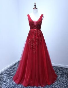 Wine Red Prom Dresses,Prom Dress,Prom Gown,Tulle Prom Gowns,Elegant Evening Dress,Modest Evening Gowns,Simple Party Gowns,2016 Prom Dress