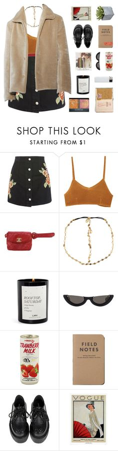"""""""while collecting the stars, i connected the dots"""" by philosoqhy ❤ liked on Polyvore featuring Topshop, Kenzie, RVCA, Chanel, AURA Headpieces, Polaroid, PAWAKA, WALL and Pier 1 Imports"""