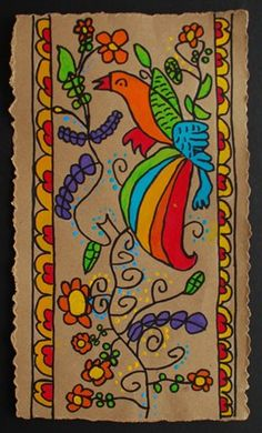 Artsonia:: Alum Creek Elem. Grade 4 Mexican Bark Painting