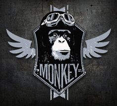 monkey logo by Leviathan ••• #design #creative #create #graphic #vintage #diseño #lifestyle #rockNroll #psychobilly #art #rockabilly #hotrod #motocicletas #bikers