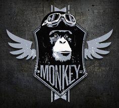 monkey logo by Leviathan ••• #design #creative #create #graphic #vintage #diseño #lifestyle #rockNroll #psychobilly #art #rockabilly #hotrod #motocicletas #bikers