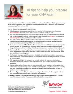 Preparing for your #CNAexam? To help you prepare visit: http://bhhc.co/1Ojyi9y