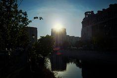 Bucharest - Sunset over Dâmbovița River