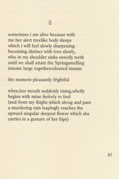 Sometimes I Am Alive Because With - A poem by e.e. cummings.