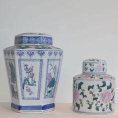 Floral Ginger Jars