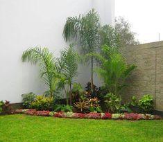 Corner Pergola Garden New Ideas Corner Landscaping, Tropical Landscaping, Outdoor Landscaping, Tropical Garden, Front Garden Landscape, Pergola Garden, Front Gardens, Small Gardens, Small Garden Design