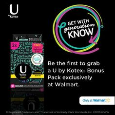 2 DOLLARS off any U by Kotex package - print this hot coupon now! http://freebies4mom.com/2013/03/19/coupon-2-00-off-any-u-by-kotex/