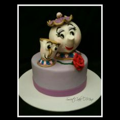 Mrs Potts and Chip Beauty and the beast cake