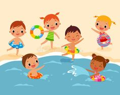 Illustration about Illustration of children with swim ring playing at the beach in summer time. Illustration of play, little, girl - 55297893 Types Of Photography, Candid Photography, Aerial Photography, Wildlife Photography, Painting For Kids, Drawing For Kids, Beach Illustration, Illustration Children, Beach Kids