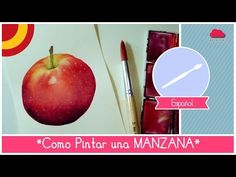 ▶ Curso de Acuarela: como pintar una manzana (facil para principiantes) by Fantasvale - YouTube