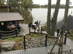 Patio Railing, Chalet Interior, Outdoor Rooms, Outdoor Decor, Lake Cottage, Lake Life, Terrace, Yard, Cabin