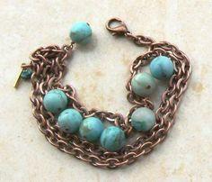 Amazonite & Copper Bracelet-$110.00