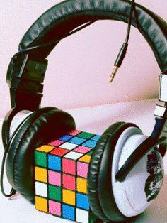 Fondo animado Cubo de Rubik.