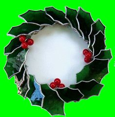 Stain glass wreath