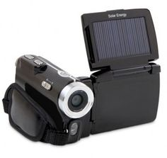 Solar powered video camera