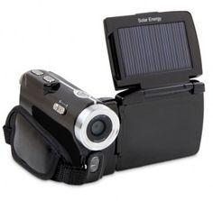 Solar powered video camera