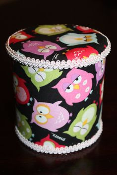 Upcycled Fabric Formula Can  Owl Pattern by Craftycupcakegirl13, $8.00