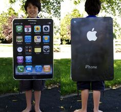 DIY iPhone Costume - Joe could totally make this