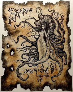 700 livres en euros | The Chosen of the Outer Gods by zarono on Etsy | Necronomicon ...