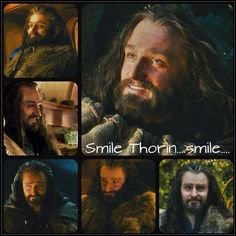 Thorin's smiles... you gotta love 'em for they are few and far between. This guy has gone through a lot, though, so I can understand why he is so grim. :3