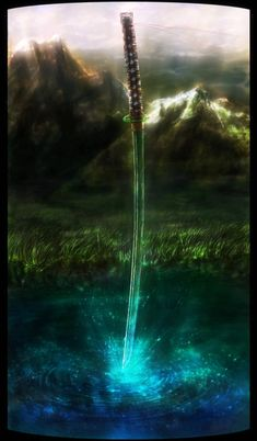 Legend of a Sword by OrmIrian on DeviantArt – katana Fantasy Katana, Fantasy Sword, Fantasy Weapons, Fantasy Warrior, Ninja Weapons, Anime Weapons, Dark Fantasy Art, Fantasy Artwork, Rukia Bleach