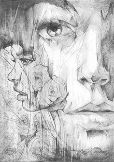 Danny O'Connor aka ArtByDoc aka DOC (UK) - Copy Paper Challenge, 2013   Drawings: Pencils on A4 Copy Paper