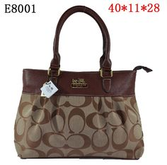 Coach Madison Classic Signature Tote Bag Brown