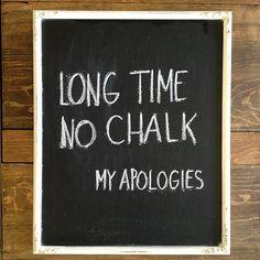 wednesday's chalkboard