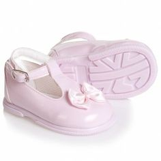 Early Days Pink Patent Toddler Shoes with Bows at Childrensalon.com