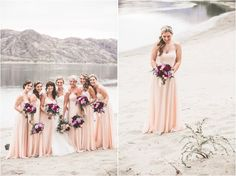 Light dresses with hints of dark purple in the bouquets Bridesmaid Dress Colors, Wedding Bridesmaid Dresses, Wedding Photography Inspiration, Wedding Inspiration, Wedding Ideas, Rio Vista, Grey Suits, Light Dress, Color 2