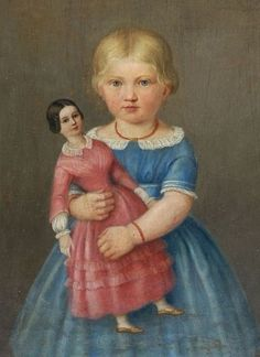 .Dolls were painted too with their young owners