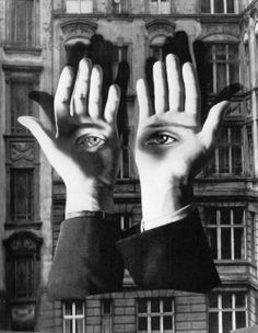 Herbert Bayer.  The hands as architecture.  Another fabulous @shauna lee lange ~ art church curation.
