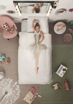 Create a fairy-tale perfect bedroom for your little ones with this gorgeous Ballerina Duvet Set by Snurk. Featuring a duvet case and pillow cover in super soft cotton, our bed linen is stylish, practical and fun! Explore the collection now at Amara.