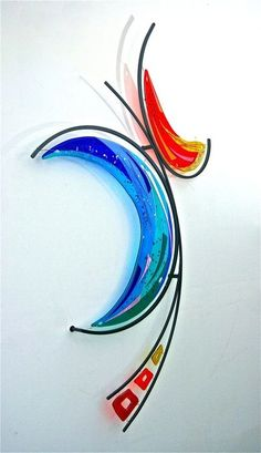 Lisa Mote's art glass creations fuse color, light, texture and depth with fluid . Fused Glass Art, Glass Wall Art, Mosaic Glass, Metal Wall Art, Stained Glass, Mosaic Mirrors, Mosaic Wall, Kiln Formed Glass, Metal Clock